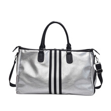 Spor spor Yoga PU çanta kadın seyahat spor çanta büyük kapasiteli su geçirmez taşınabilir eğitim spor çantaları ayakkabı depolama HAB610