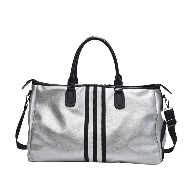 Sports Fitness Yoga PU Bags Women Travel Sport Handbag Large Capacity Waterproof Portable Training Gym Bags Shoes Storage HAB610