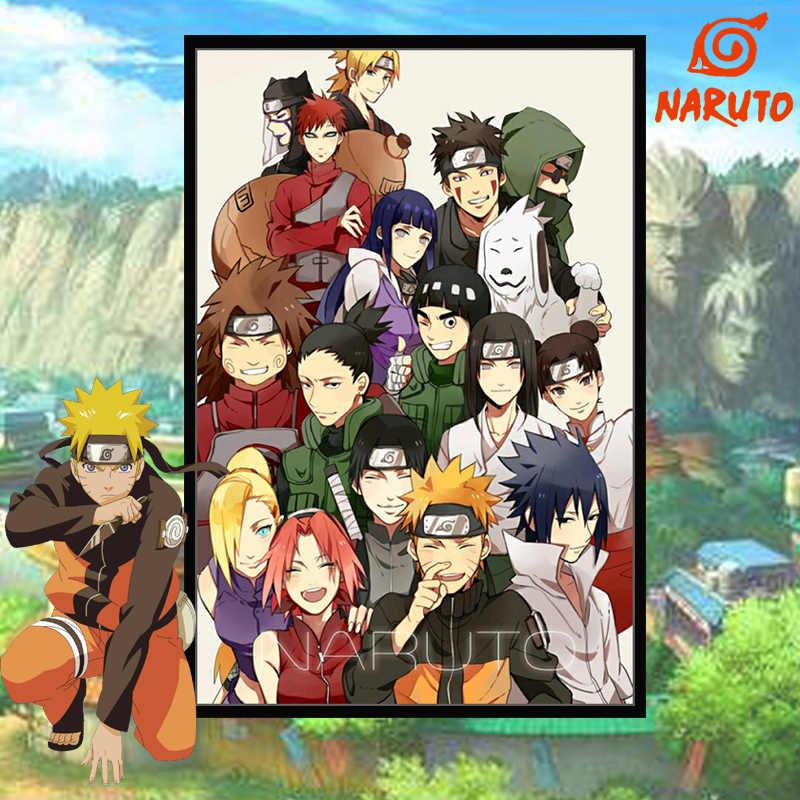Tự làm sơn do số hình vẽ bằng số với Bộ dụng cụ Naruto họ Chân Dung treo Trang Trí tranh