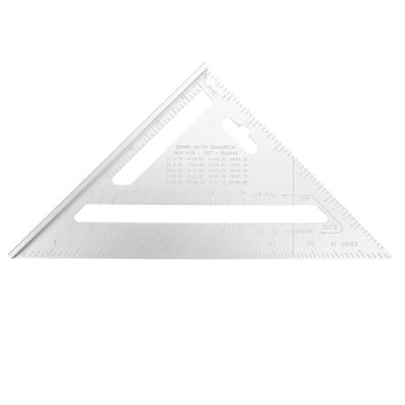 200 Mm Triple-Cornered Ruler Protractor Aluminum 90 Degree Angle Ruler Speed Square Protractor Miter Framing Measuring Tool For