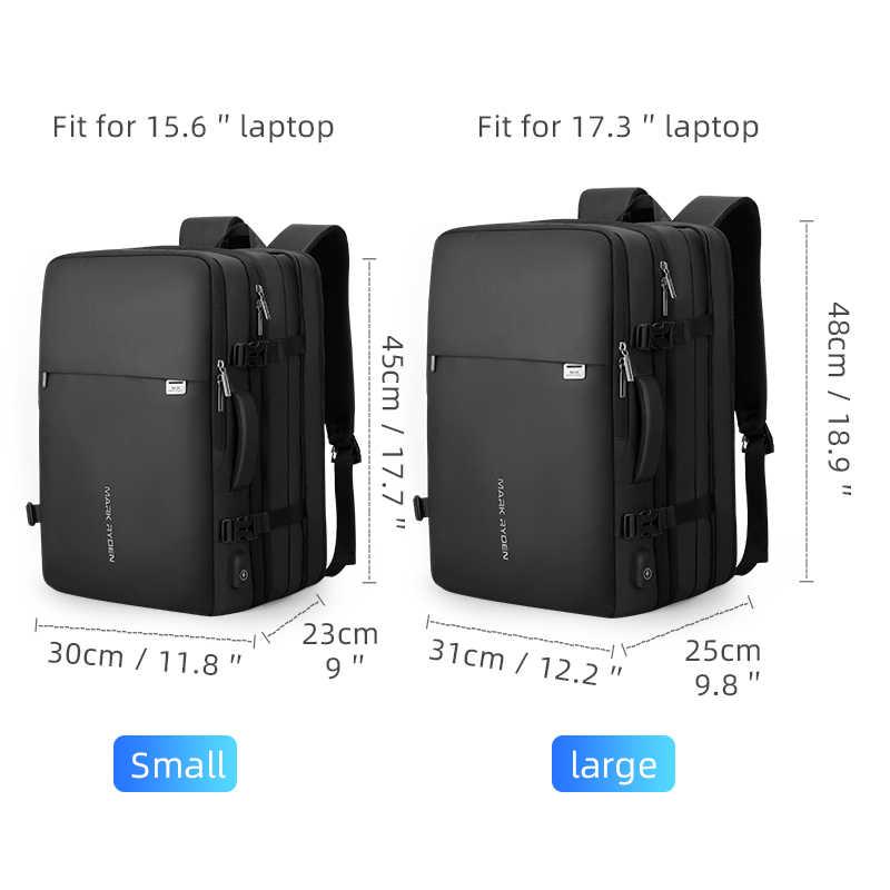 Mark Ryden Pria Ransel Cocok 17 Inch Laptop USB Pengisian Multi-Lapisan Perjalanan Ruang Angkasa Pria Tas Anti-Thief untuk Wanita