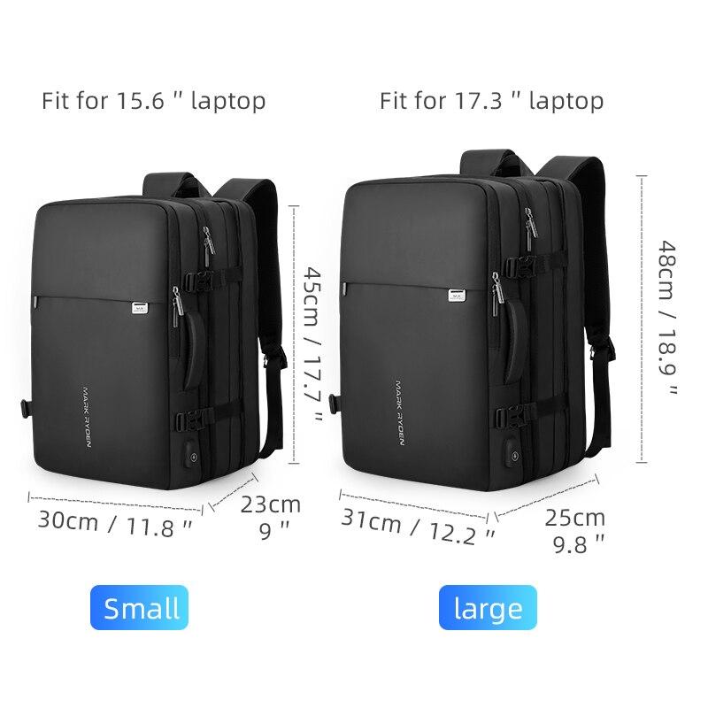 Mark Ryden homme sac à dos Fit 17 pouces ordinateur portable USB recharge multi-couche espace voyage homme sac Anti-voleur Mochila - 6