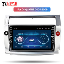 Physical Knob Android 8.1 Car Radio for Citroen C4 C-Triomphe C-Quatre 2004-2009 car dvd gps navigation multimedia player(China)