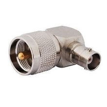 RF Coaxial Adapter UHF/BNC-JKW UHF Male To BNC Female Plug Right Angle 90 Degree Converter Connector