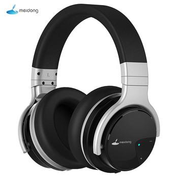 Meidong E7B słuchawki Bluetooth aktywne słuchawki z redukcją szumów słuchawki bezprzewodowe 30 godzin na ucho z mikrofonem głęboki bas tanie i dobre opinie Dynamiczny Bezprzewodowy + Przewodowe 120±2dBdB 1 2mm Dla Telefonu komórkowego Do Gier Wideo Słuchawki HiFi Wspólna Słuchawkowe