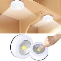COB LED Unter Kabinett Licht Mit Klebstoff Aufkleber Drahtlose Wand Lampe Schrank Schrank Schublade Schrank Schlafzimmer Küche Nacht Licht