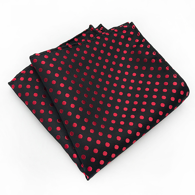 Men's Handkerchief Square Polyester Dot Small Wave Point Pocket Towel Party Dress Handkerchief Suit Pocket Towel Accessories