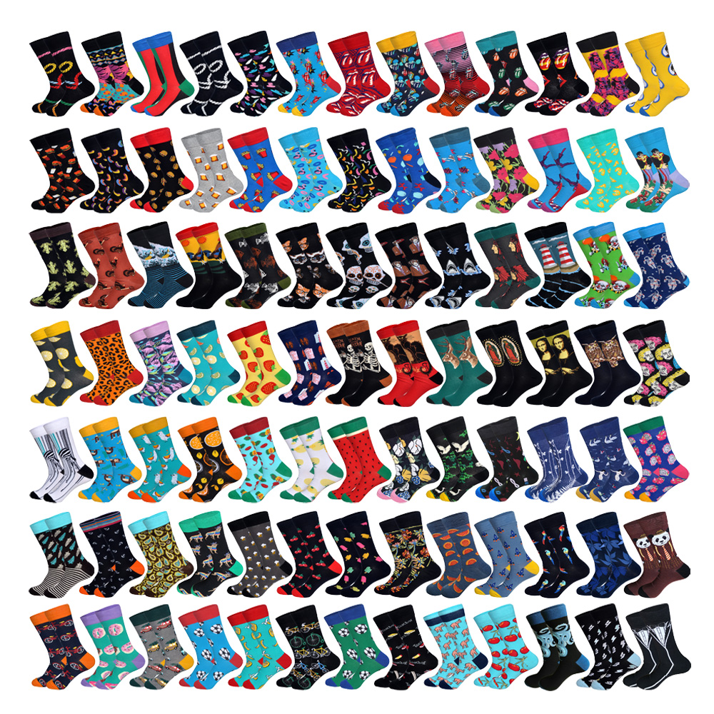 Downstairs 10pairs/lot Streetwear Socks For Men Hip Hop 31 Selects Customizable Skateboard Dress Up Cotton Happy Socks Chrismas