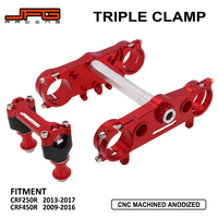 Motorcycle Triple Tree Clamps Steering Stem And Bar Mount For HONDA CRF250R CRF 250R 2013 2017 CRF450R CRF 450R 2009 2016