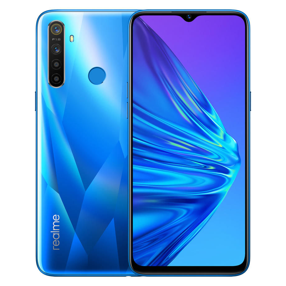 EU Version OPPO Realme 5 6.5'' 3/4GB RAM 64/128GB ROM Snapdragon 665 AIE Octa-Core 5000mAh 12MP+13MP Quad Cameras Mobile Phone