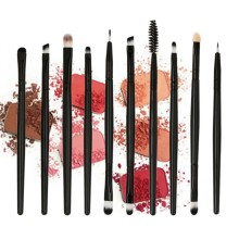 10Pcs Makeup Brushes Set EyeShadow Foundation Powder Blush Eyelashes Eyeshadow Concealer Lip Eye Make Up Brush Cosmetics Tools 10pcs make up palette set eyeshadow lip gloss foundation powder blusher puff tool