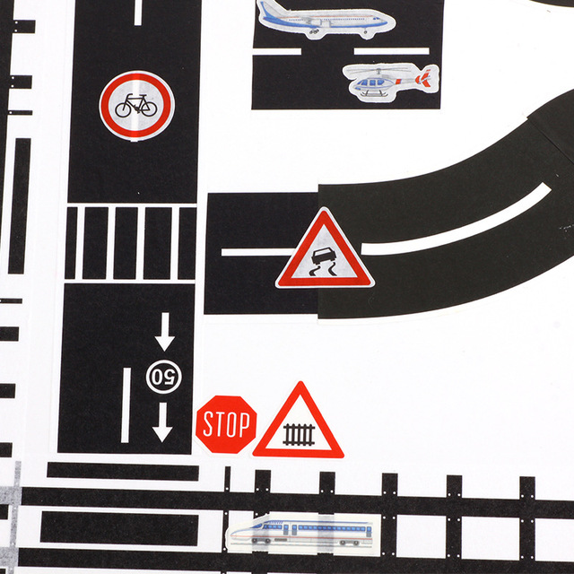 5m Railway Road Traffic Tape Washi Tape Sticker DIY Road Traffic Road Adhesive Masking Tape Car Stickers For Kids Toy Car Train 3