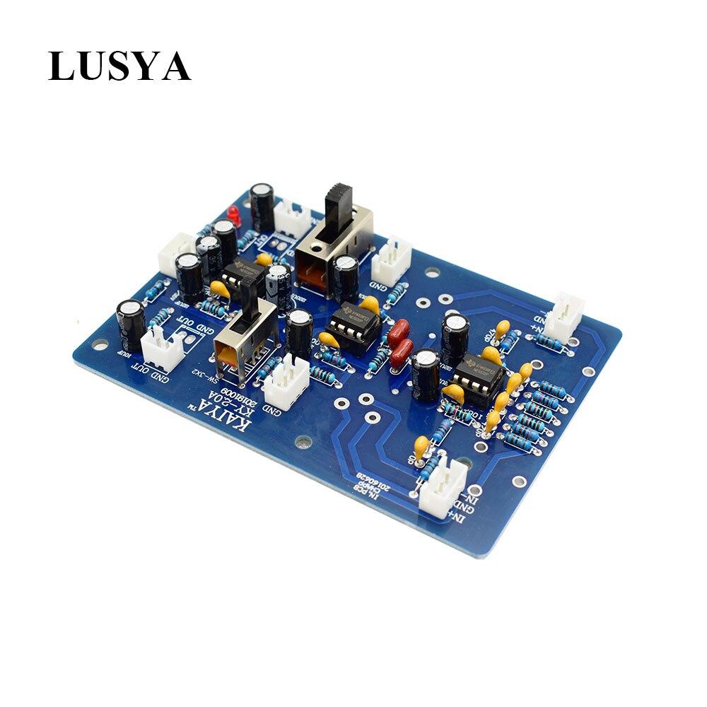 Lusya Two-channel Balanced Preamplifier Input Board Stereo Gain Input BTL Bridge Board T0865