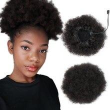 Большой буфами на рукавах для волос афро кудрявый вьющиеся 100%