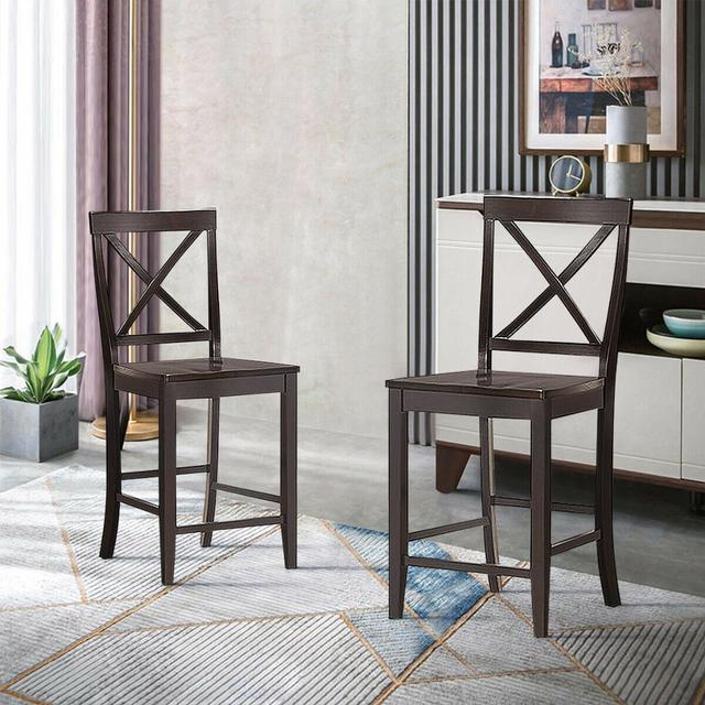 """Set of 2 24"""" Counter Height Barstools 4"""