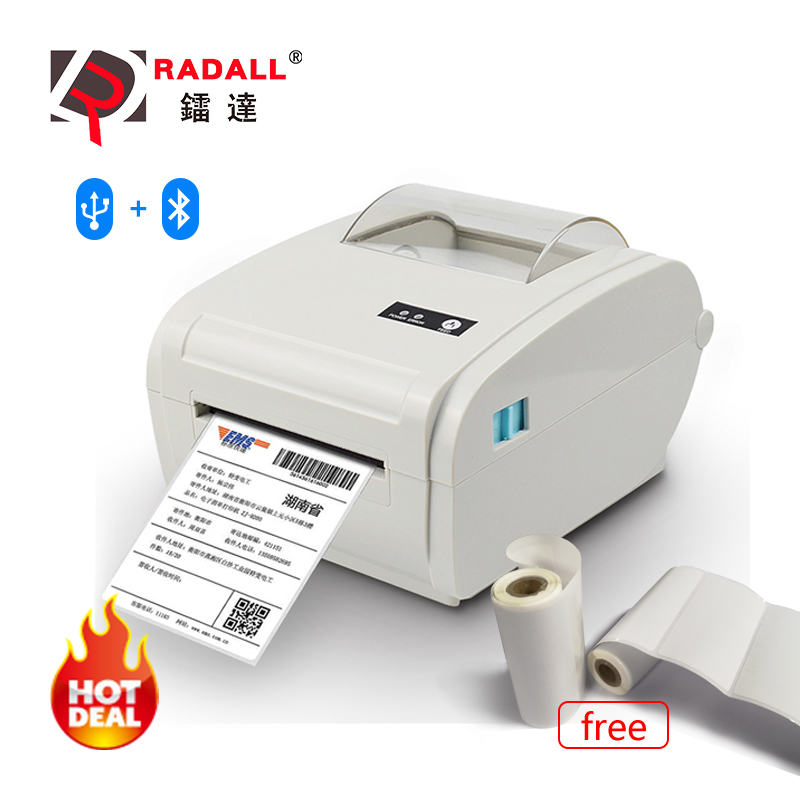 Thermal-Label-Printer Logistic Barcode Auto-Peeling Usb/bluetooth 110mm Portable RD-9210 title=