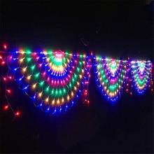Net String-Lights Fairy-Light-Garland Garden-Lamp Peacock Outdoor for Home Wedding Party-Decoration