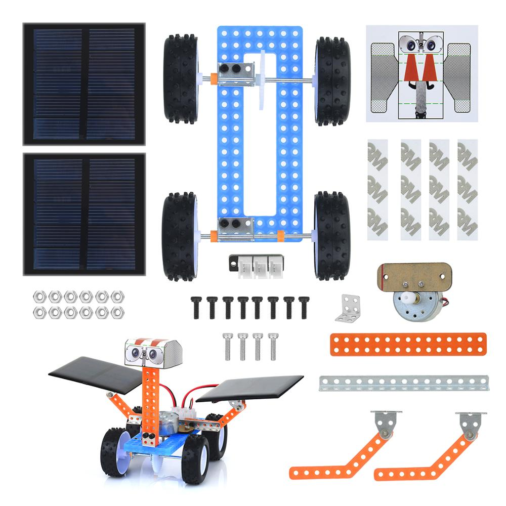 Diy Electronic Kit  Assembled Child Toy For Stem Education Set Ferris Wheel / Robot / Mars Rover / Elevator / Wind Car / Filter