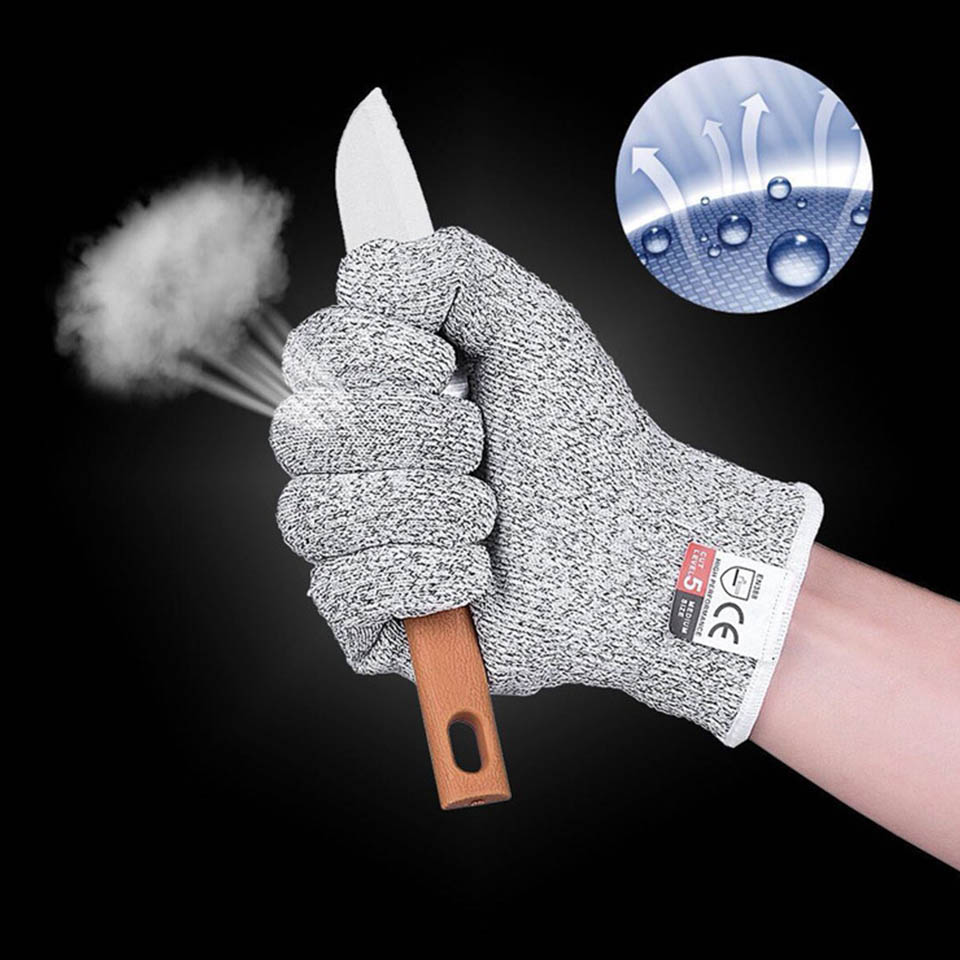 Hunting Anti-cut Gloves Camping Outside 5 Safety Work Kitchen Butcher Breathable Fish Meat Butcher Cut-Resistant Glove