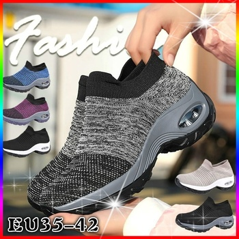 New 2020 Summer Women Sneakers Fashion Breathable Mesh Casual Shoes Platform For Black Sock