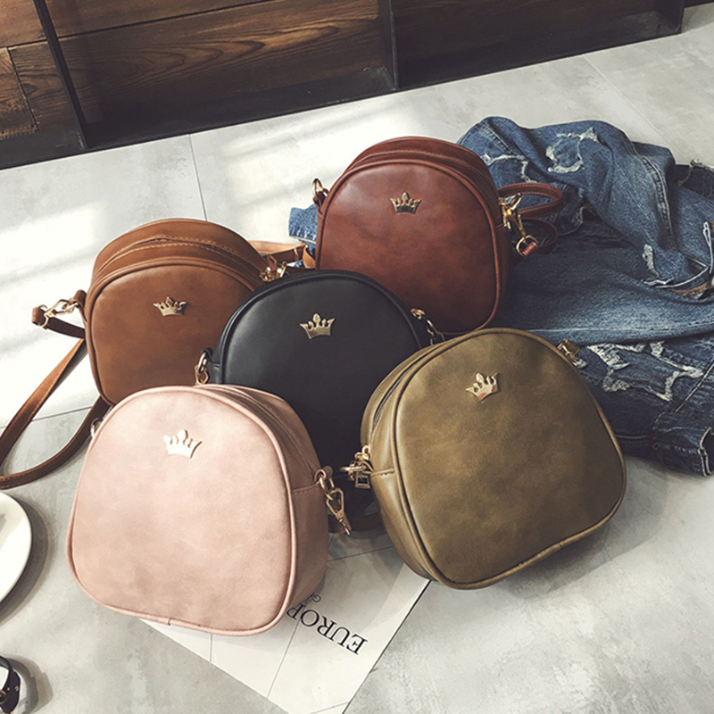 Bags For Women 2019 New Shoulder Bag Fashion Handbag Phone Purse Imperial Crown Pu Leather Women Small Shell Crossbody Bag