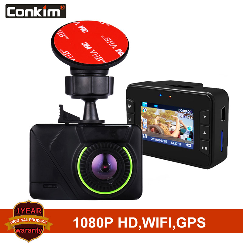 Conkim Mini Car DVR GPS WIFI Novatek 96658 Dashcam Full HD 1080P Car Cameras 1.5 IPS Screen Car dvrs Dash cam