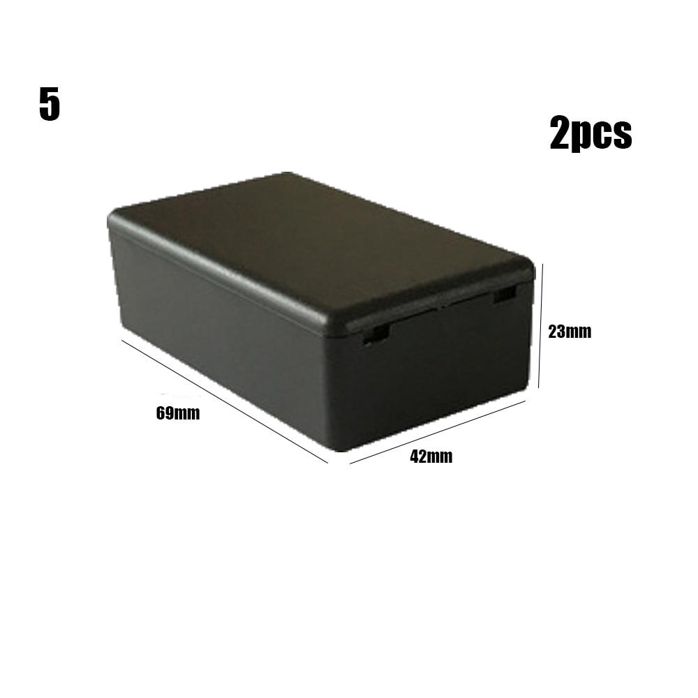 Новинка, 2 шт., водонепроницаемый, черный, DIY корпус, чехол для инструментов, ABS пластик, проект, коробка, чехол для хранения, корпус, коробки, электронные принадлежности - Цвет: 2pcs Style 5