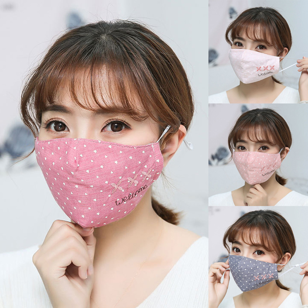 Anti-fog Face Mask Cotton Protective Mask Washable Reused Adult Mouth Cover Outdoor Anti-Dust Double-layer Adjustive Mask%