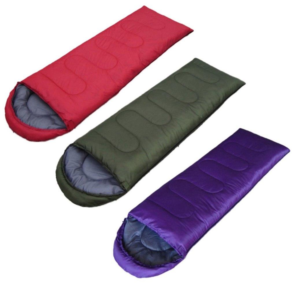 Umschlag Outdoor Camping Erwachsene Schlafsack Tragbare Ultra Licht Wasserdichte Reise Wandern Schlafsack Mit Kappe
