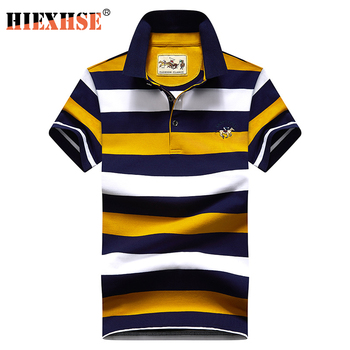 High Quality Striped 3D Embroidery Polo Shirt Casual Shirts men's Short sleeve polo shirt 2020 New Arrival polosshirt - discount item  50% OFF Tops & Tees