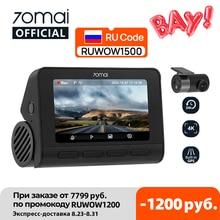 70mai Dash Cam 4K A800S Dual Sight 70mai A800S GPS ADAS Car DVR 2160P 4K 24H Parking 140FOV Support Rear Cam