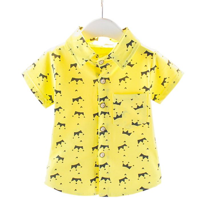 Toddler Tops Shirts Short-Sleeve Kids Clothes Stars Printed Infant Baby-Boys Casual Cotton