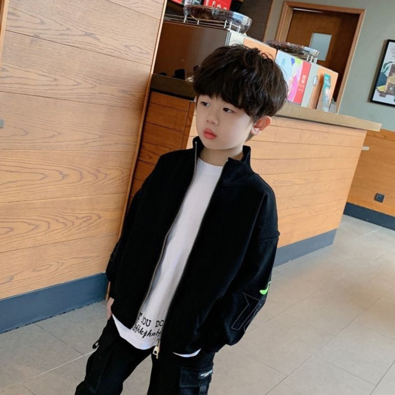 2021 Spring Autumn Letter Printed Children Windbreaker Jacket Kids Boys Trench Coat Outerwear Coats Princess Jackets For Boys