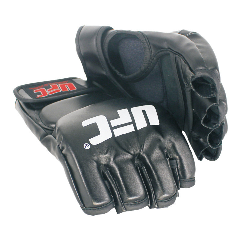 New Half Fighting Gloves MMA Boxing Sports Leather Tiger Muay Thai Fight Box MMA Gloves Boxing Sanda Boxing Glove Pads MMA Sport