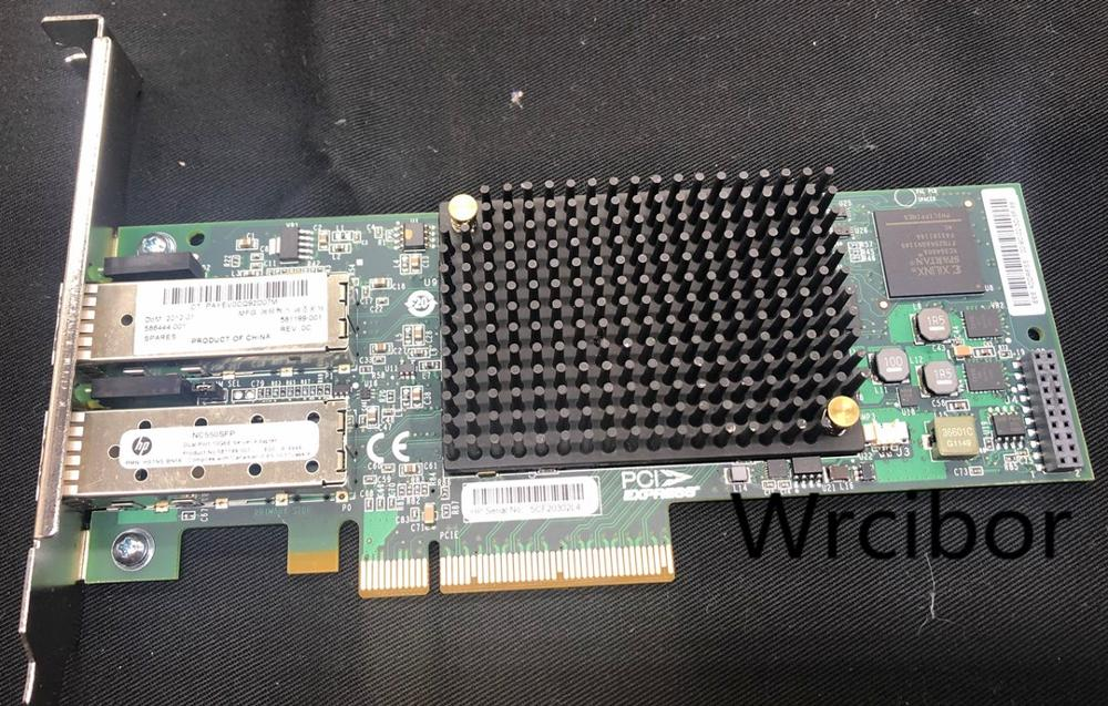 HP 581201-B21 586444-001 NC550SFP PCIe Dual Port 10GbE Server Adapter Card