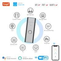 Tuya WiFi Fernbedienung Smart Universal RF + IR Remote USB Form Smart Controller RF Geräte Arbeitet Mit Alexa Google hause