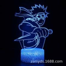Naruto-luz de modelado 3D de Naruto Uzumaki, LED Visual de luz estéreo, regalo de cumpleaños, luz de ambiente, Naruto Sasaki, lámpara de mesa por USB