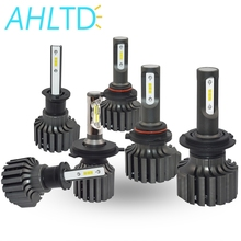 2X H4 H7 H11 H1 H3 9005 9006 COB Auto LED Headlight Bulbs Hi-Lo Beam 72W 8000LM 6500K Headlamp Led Car Light V1S DC 12v 24v