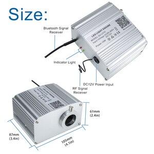 Image 2 - Sử Dụng Xe Hơi Bluetooth Ứng Dụng 10W Twinkle RGBW Sợi Quang Động Cơ Ánh Sáng Đèn LED Đầy Sao Trần Bộ 150/200 chiếc 0.75 Mm 2M Với 28key RF
