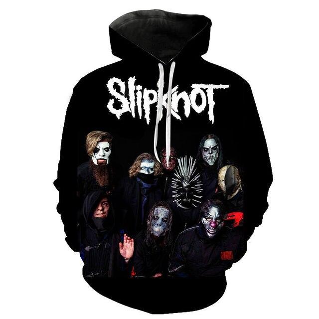 Slipknot 3D Print Hoodies Heavy Metal Rock Band Sweatshirt Men Women Fashion Streetwear Hoodie Hip Hop Pullover Tops Coat Unisex 3