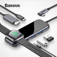Baseus Multi USB Typ C HUB zu 3,0 HDMI RJ45 USB HUB für MacBook Pro USB C HUB für iWatch drahtlose Lade Adapter USB Splitter