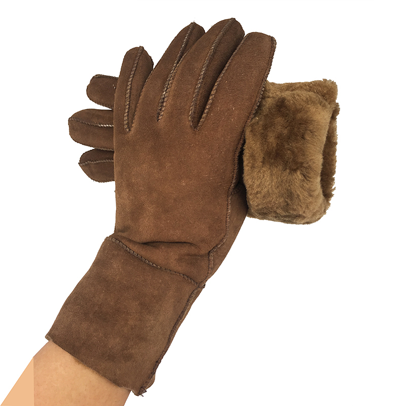 Genuine Leather Winter Gloves Fashion Trend Women Sheepskin Glove Thermal Warm Winter Plus Velvet Leather Driving Gloves N16