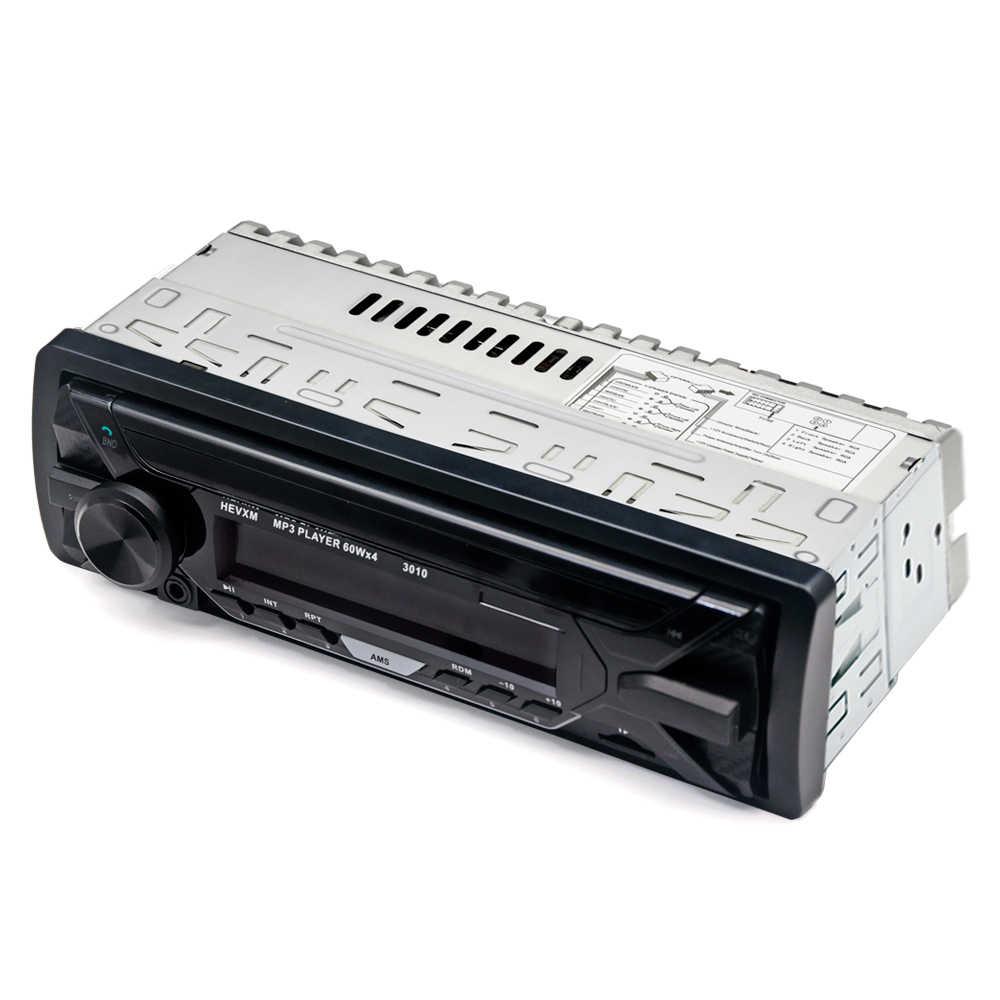 HEVXM カラフルなライトカーステレオオーディオ MP3 プレーヤーインダッシュ 1 Din FM 受信機 Aux 入力 SD MP3 MMC WMA ラジオプレーヤー 3010
