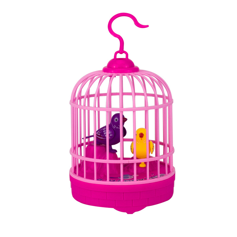 Say Hello Talking Bird Mini Bird With Cage Voice Control Electronic Animals Toy  Singing Bird For Children Girls Boys Baby