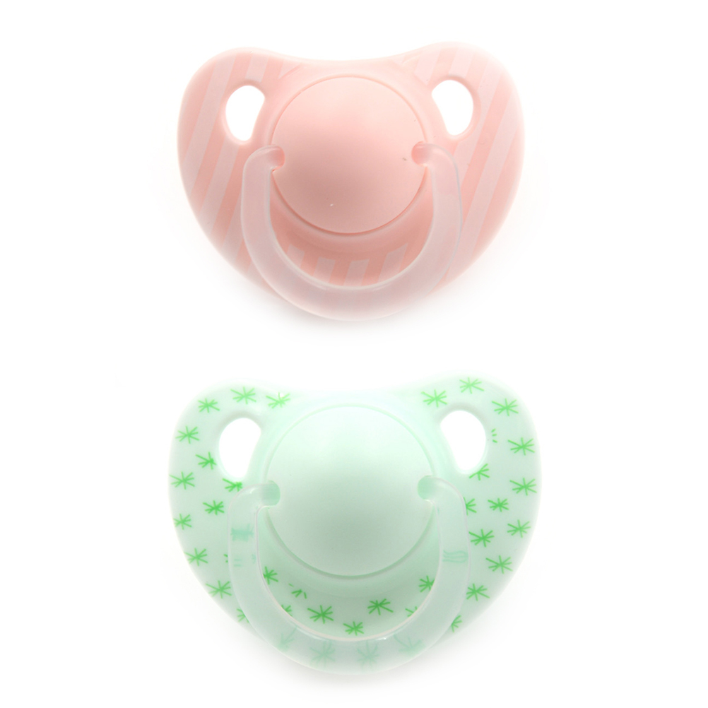 Baby Pacifier Silicone Round And Flat Head Sleeping Baby Pacifier Baby Molar Training Milk Cessation Tools Prevent Finger Bites