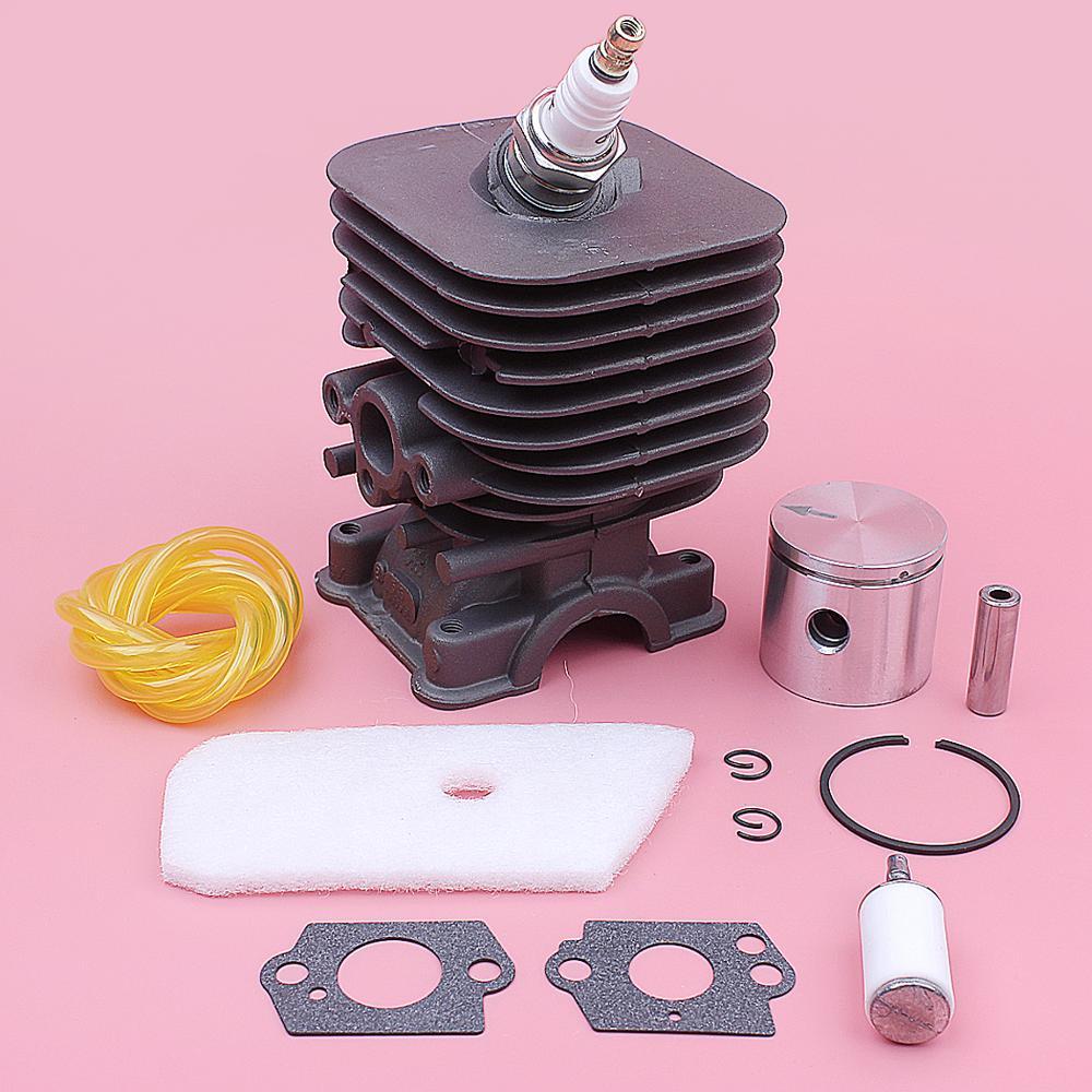 Kit de filtre à Air de Piston de cylindre pour Husqvarna 128C 128CD 128L 128LD pièces de tondeuse 545008082 joint de Carb bougie d'allumage 35mm - 3