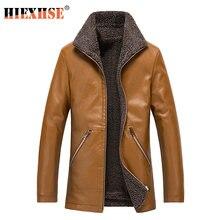 Мужская классическая Длинная кожаная куртка 8xl брендовая Высококачественная
