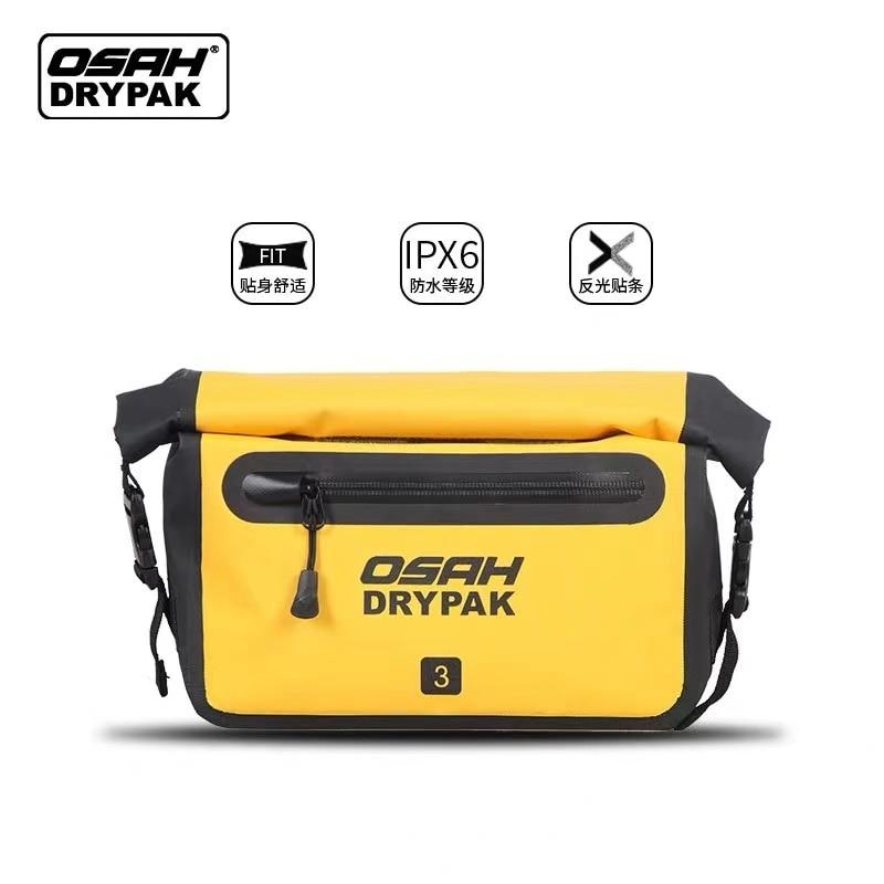 Водонепроницаемая уличная поясная сумка OSAH 3 л, сухая, водостойкая, сверхпрочная, с застежкой-рулоном, с мягкой подкладкой, для дайвинга, сер...