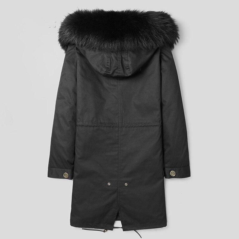 Parka Homme Real Fur Coat Men Winter Jacket Fox Fur Liner Fashion Long Coat Korean Mens Mink Jackets F-NL-1701 KJ1516