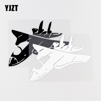 YJZT 15.3X11.5CM Jumbo Jet Personlity Car Stickers Aircraft Vinyl Decals Black / Silver 10A-0032 image
